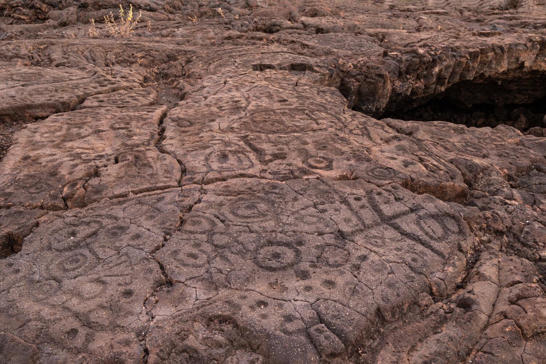 Petroglyph preserve in Waikoloa.