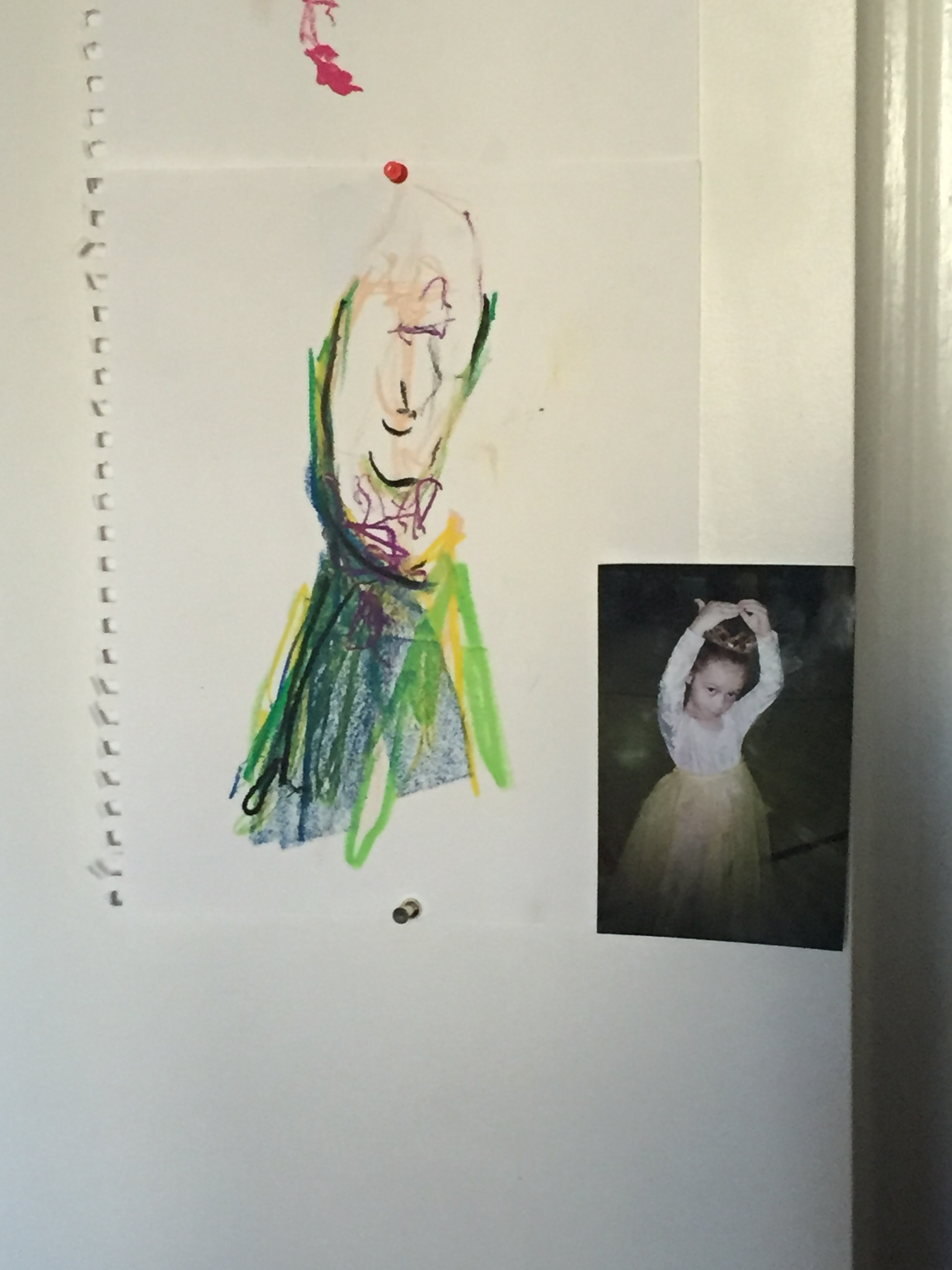 Photo and sketch of Karrie's sister.