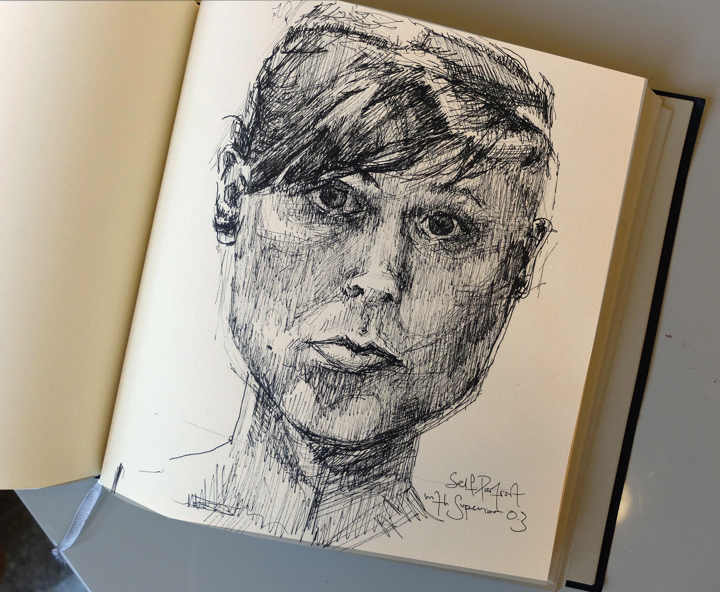 self portrait with new pen