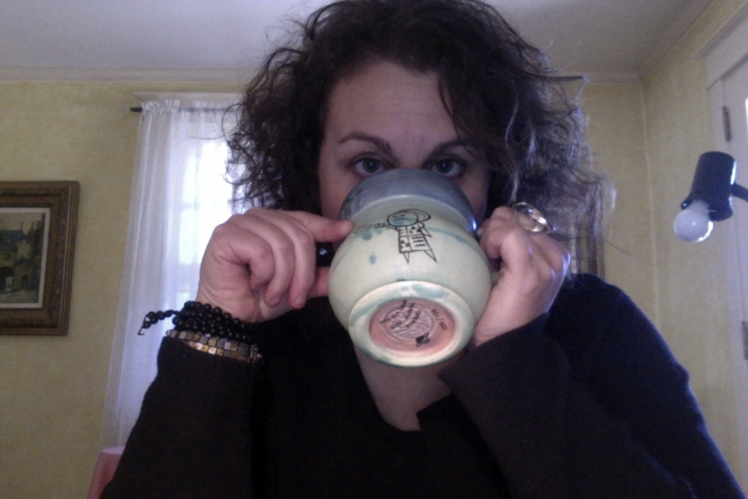 Me, coffee and my amazing handmade Misfit mug. What's your morning routine?