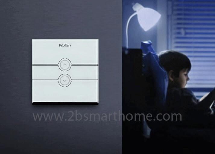 Wulian Smart Touch Dimmer Switch (one gang, L) - สวิทช์เปิดปิดไฟผ่านโทรศัพท์มือถือ จาก Wulian Thailand - Smart Home Automation บ้านอัจฉริยะ Smart Switch