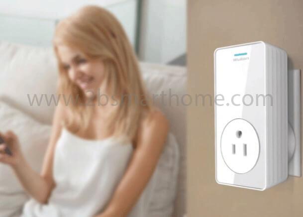 Wulian Smart Wall Plug(USA Type) - ปลั๊กไฟอัจฉริยะเปิดปิดผ่านโทรศัพท์มือถือ ใช้สัญญาณไร้สาย Zigbee จาก Wulian Thailand - Smart Home Automation บ้านอัจฉริยะ