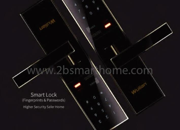 Wulian Smart Door Lock - กลอนประตูดิจิตอลควบคุมผ่านสัญญาณโทรศัพท์มือถือ จาก Wulian Thailand - Smart Home Automation บ้านอัจฉริยะ