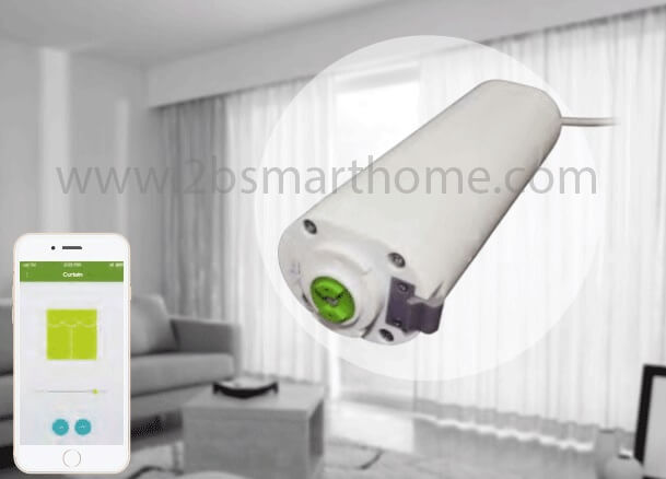 Wulian Smart Curtain Motor - มอเตอร์ควบคุมเปิดปิดม่านไฟฟ้าผ่านทางโทรศัพท์มือถือ จาก Wulian Thailand - Smart Home Automation บ้านอัจฉริยะ