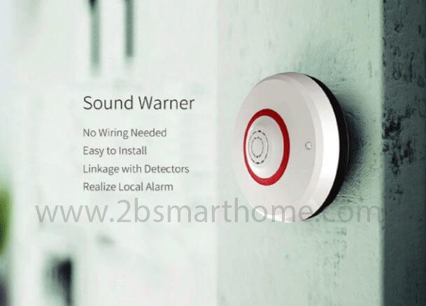 Smart Sound Warner - อุปกรณ์ส่งเสียงสัญญาณเตือนภัย Wulian Thailand - Smart Home Automation บ้านอัจฉริยะ
