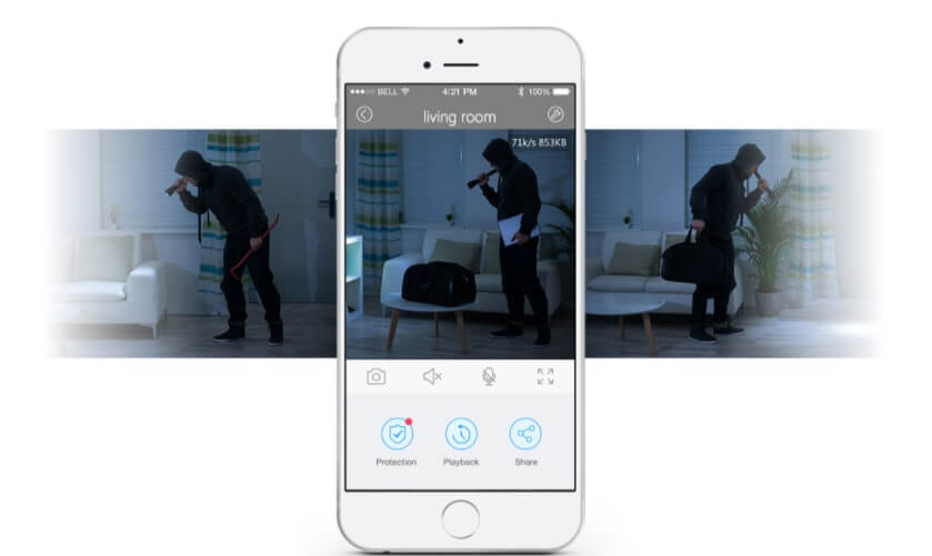 Smart Home Panorama Camera - Motion Detection