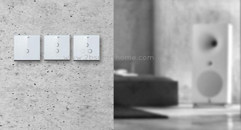 Wulian Smart Touch Binding Switch(L, N) - สวิทช์เปิดปิดไฟควบคุมผ่านโทรศัพท์มือถือ จาก Wulian Thailand - Smart Home Automation บ้านอัจฉริยะ Smart Switch