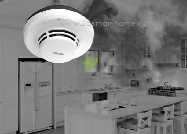Wulian Smoke(Fire) Detector - อุปกรณ์เตือนอัคคีภัยป้องกันไฟไหม้ทำงานร่วมกันระบบhome automation ใช้สัญญาณZigbee จาก Wulian Thailand - Smart Home Automation บ้านอัจฉริยะ