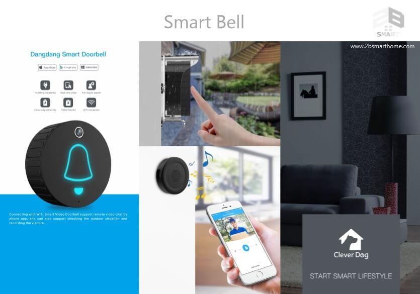Smart Door Bell กันน้ำ กริ่งเรียกอัจฉริยะ อินเตอร์คอมบนมือถือ