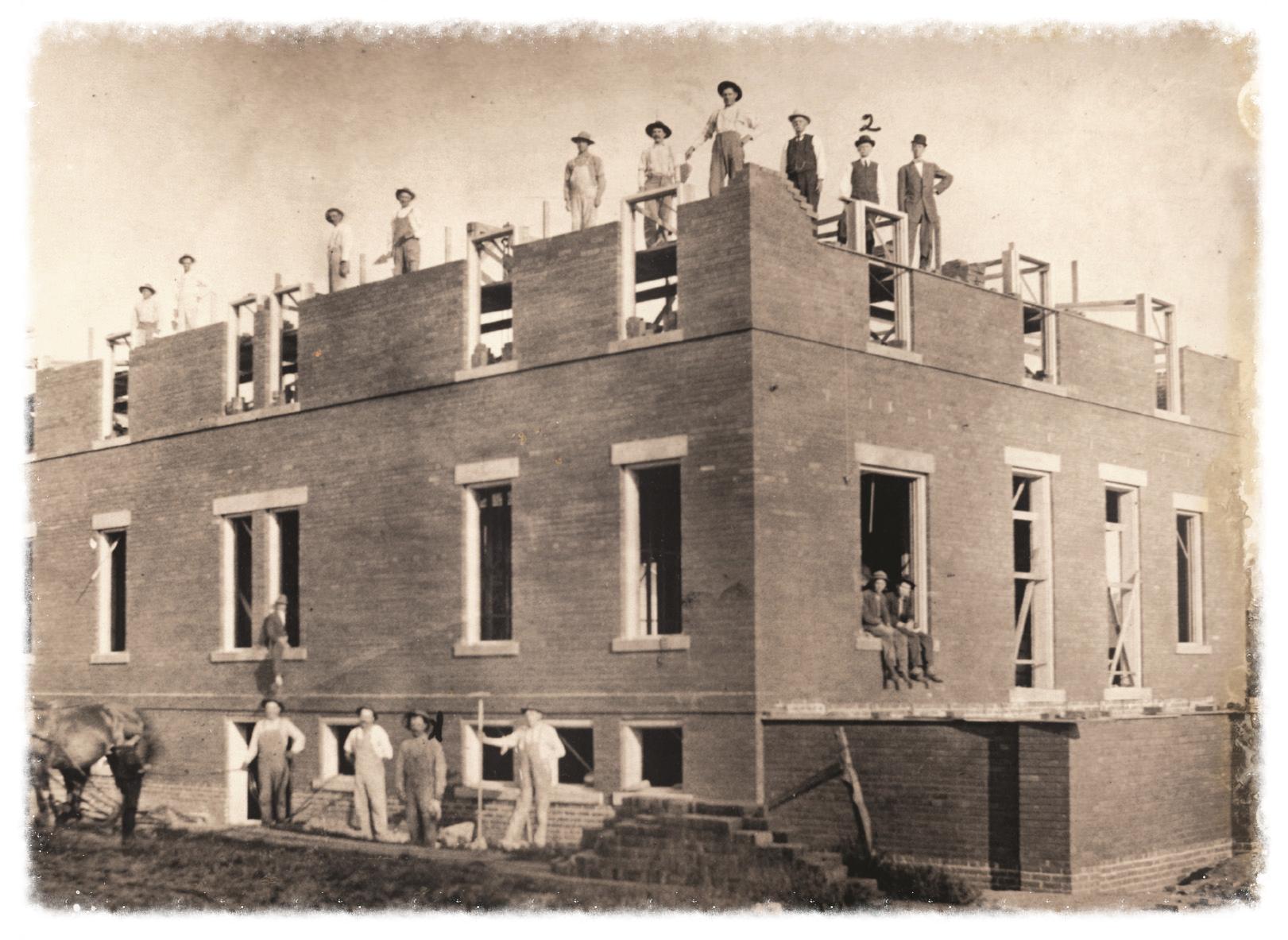 Inn under construction.