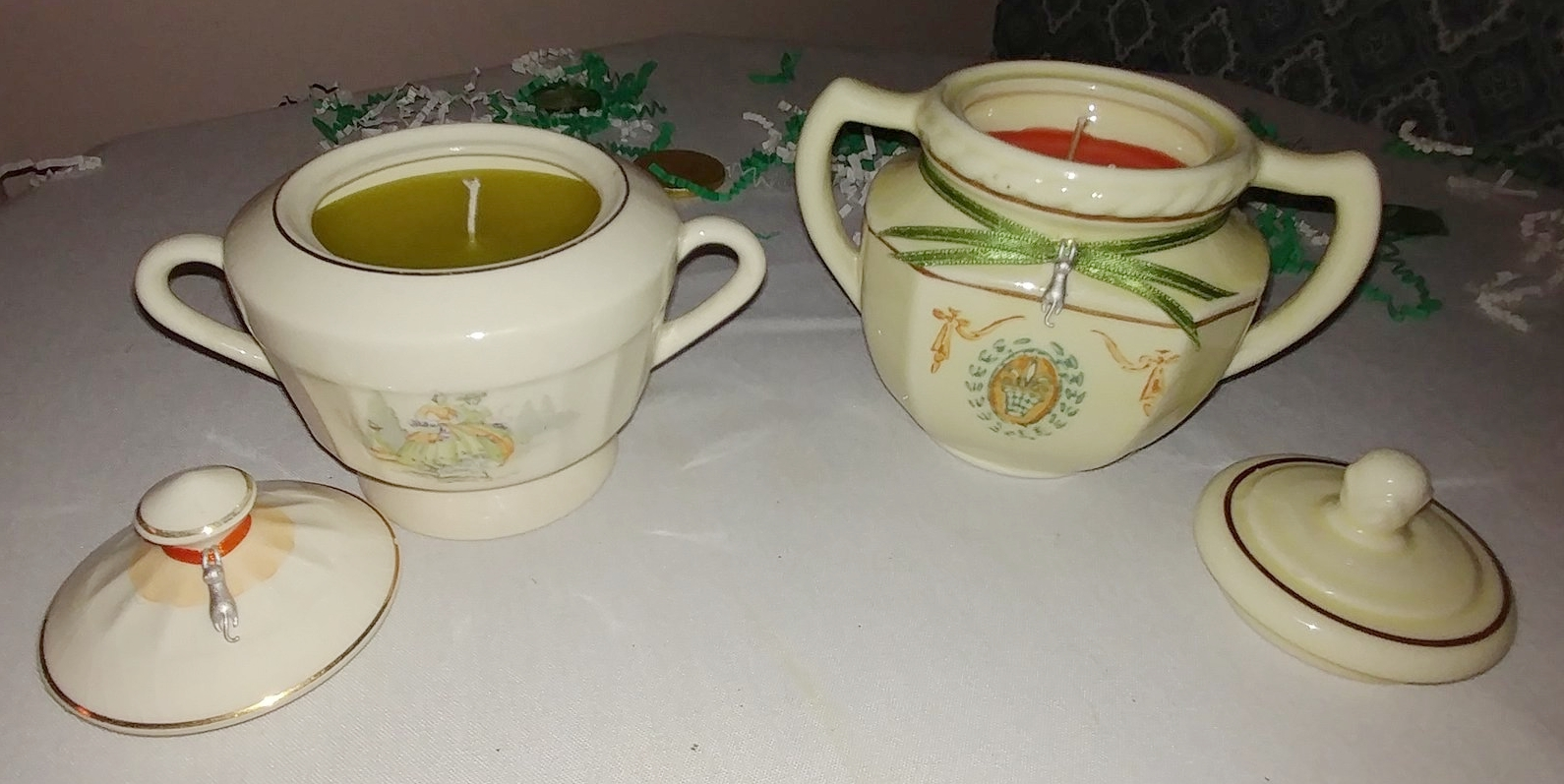 Scented Sugar Bowl Candles $20/ea