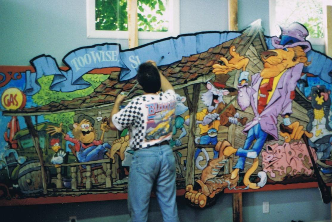 The Inn's Walldog Art when it was first painted.