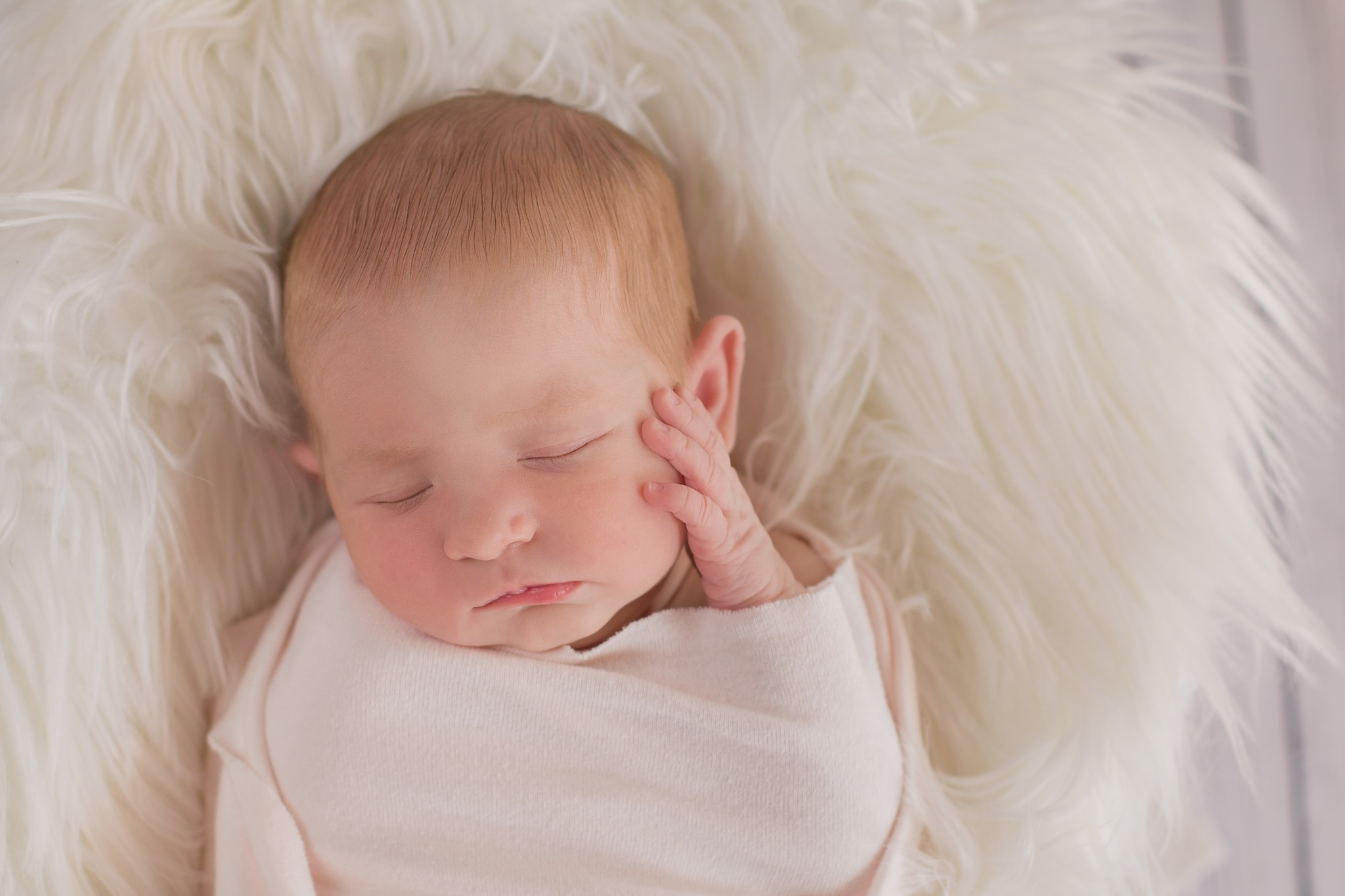 close up of baby by central coast newborn photographer mala moon