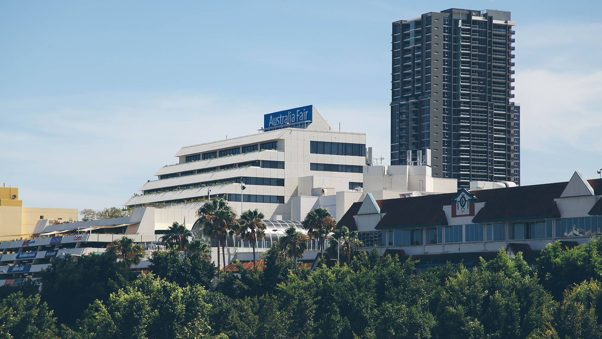 Australia Fair is one of the largest shopping centres on the Gold COast and offers sweeping views across to Surfers Paradise.