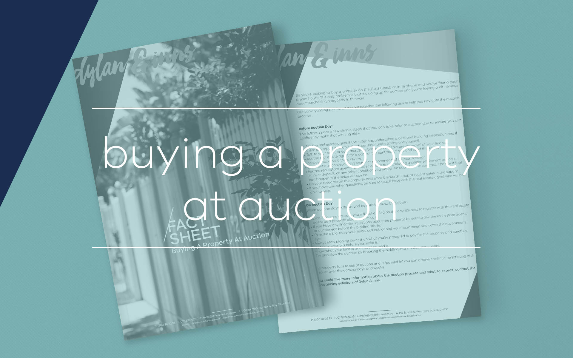 Our conveyancing solicitors have put together this fact sheet highlighting issues you need to be aware of when buying a property at auction.