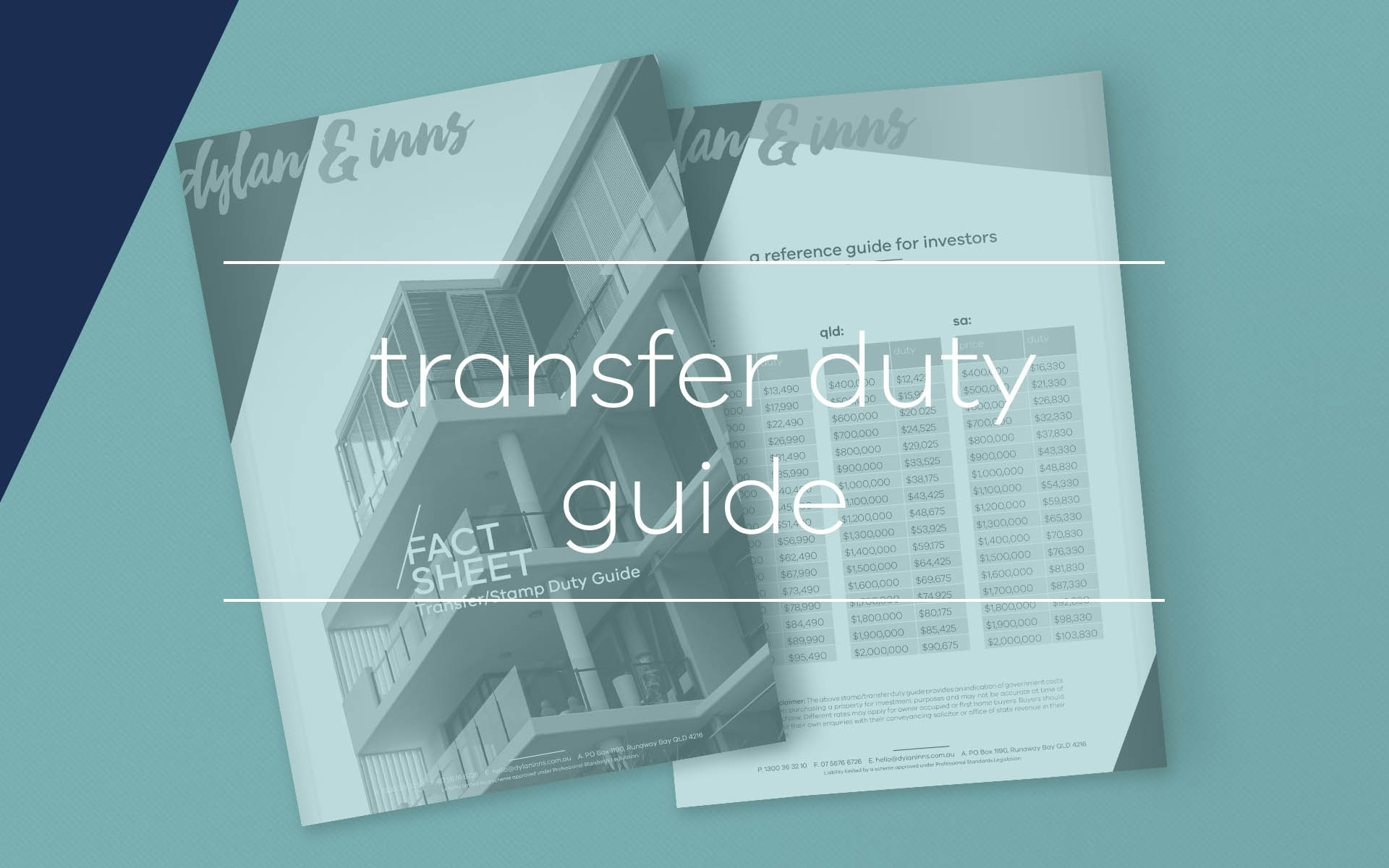 If you are a property investor looking to purchase a new property this guide by our conveyancing solicitors provides additional information on the amount of transfer, or stamp, duty payable.