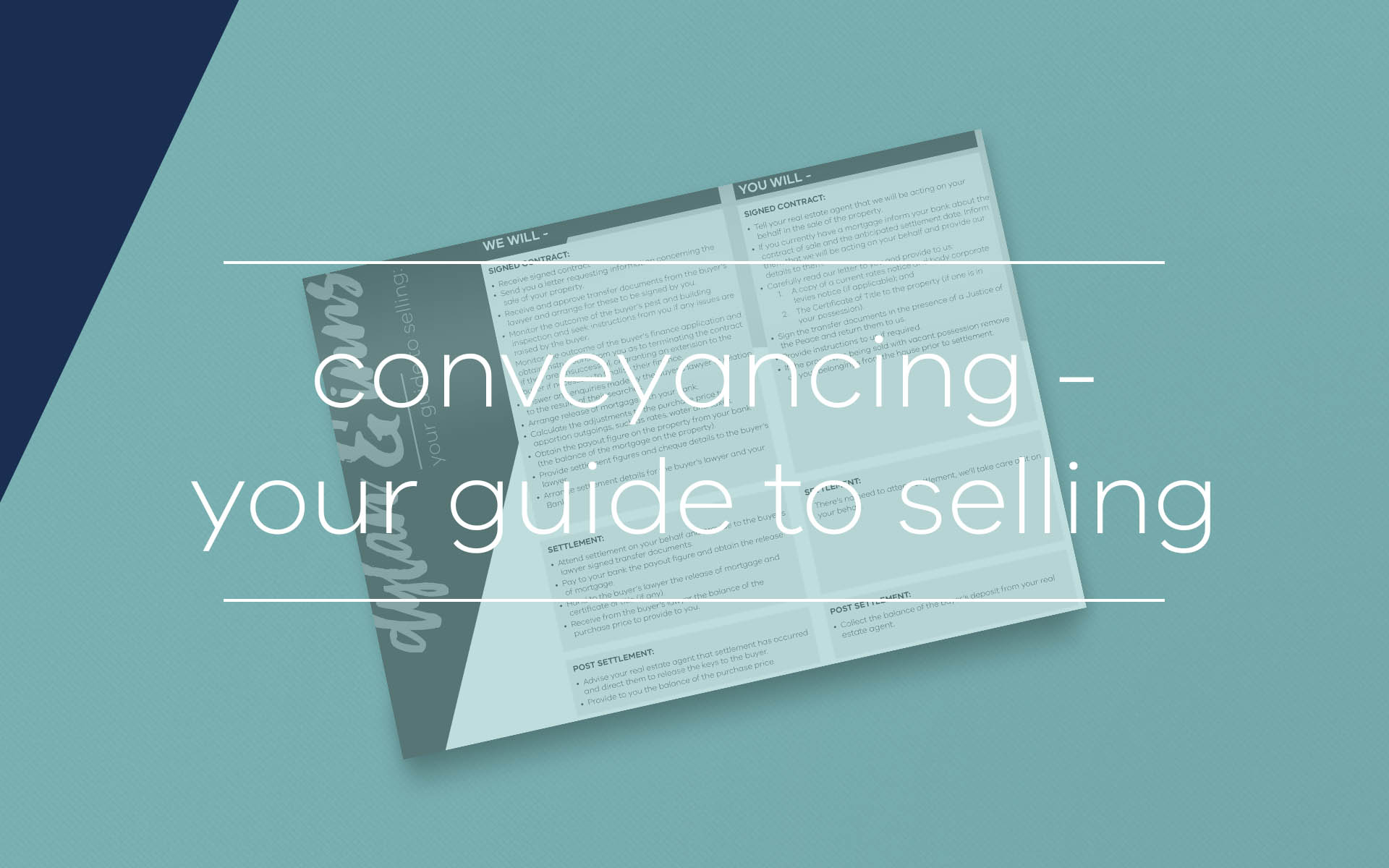 When selling your property, this guide by our property lawyers may assist you to understand the conveyancing process and be aware of your responsibilities as a seller.