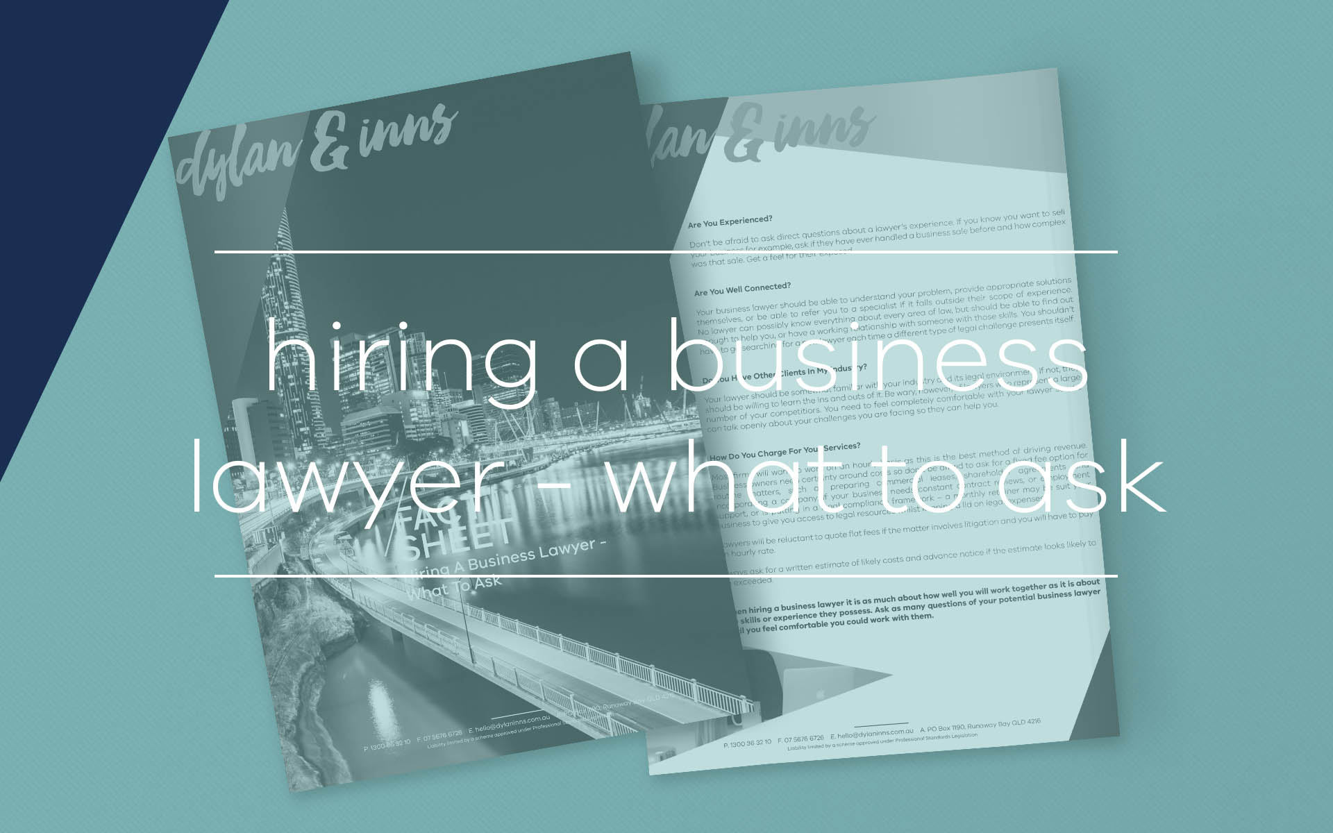 When deciding to hire a commercial lawyer to assist with legal issues with your business, it is important you find the right person to fit your legal needs.