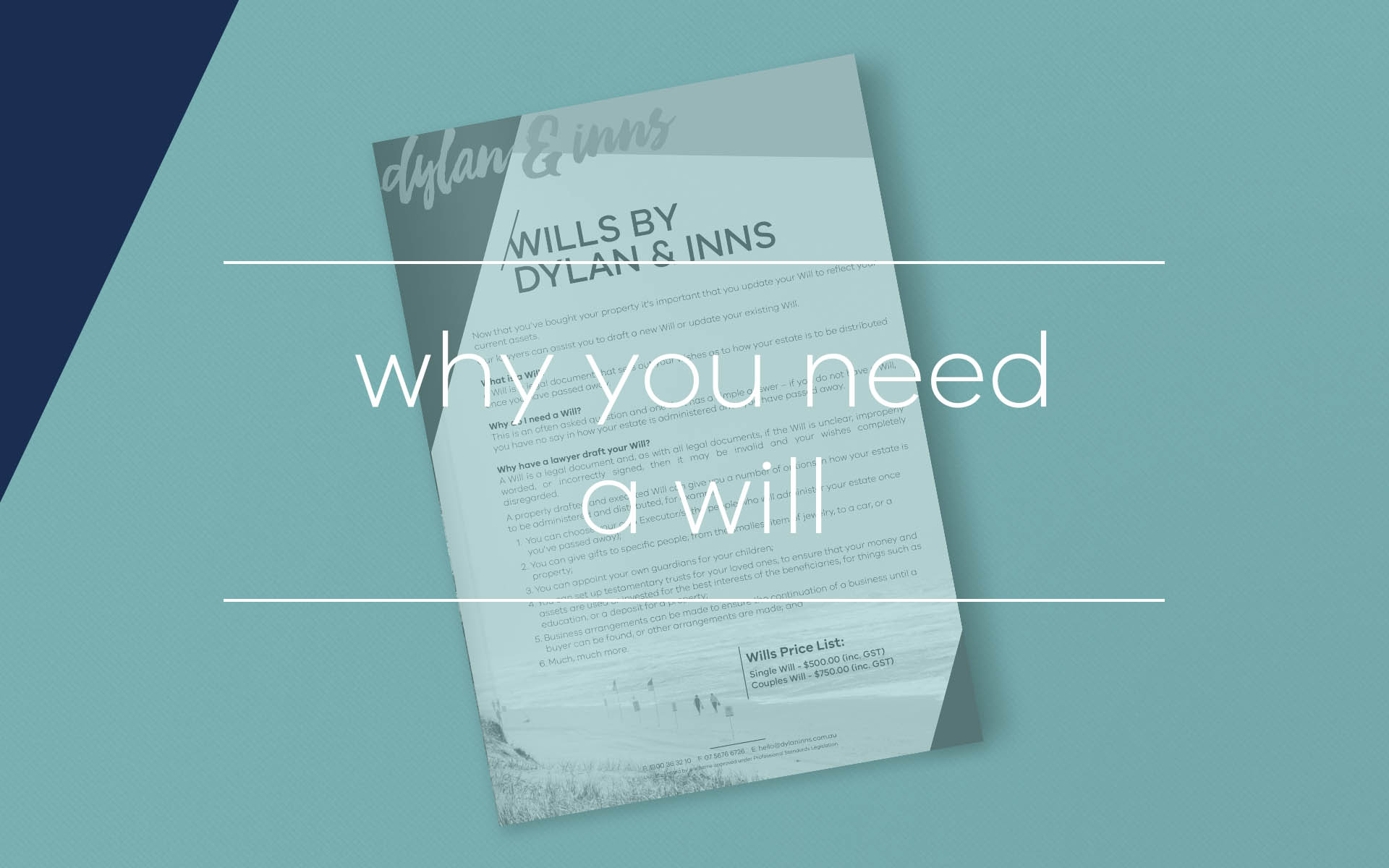 This fact sheet highlights the importance of having a Will in place the the repercussions of not having a Will and how this may affect your estate after your death.