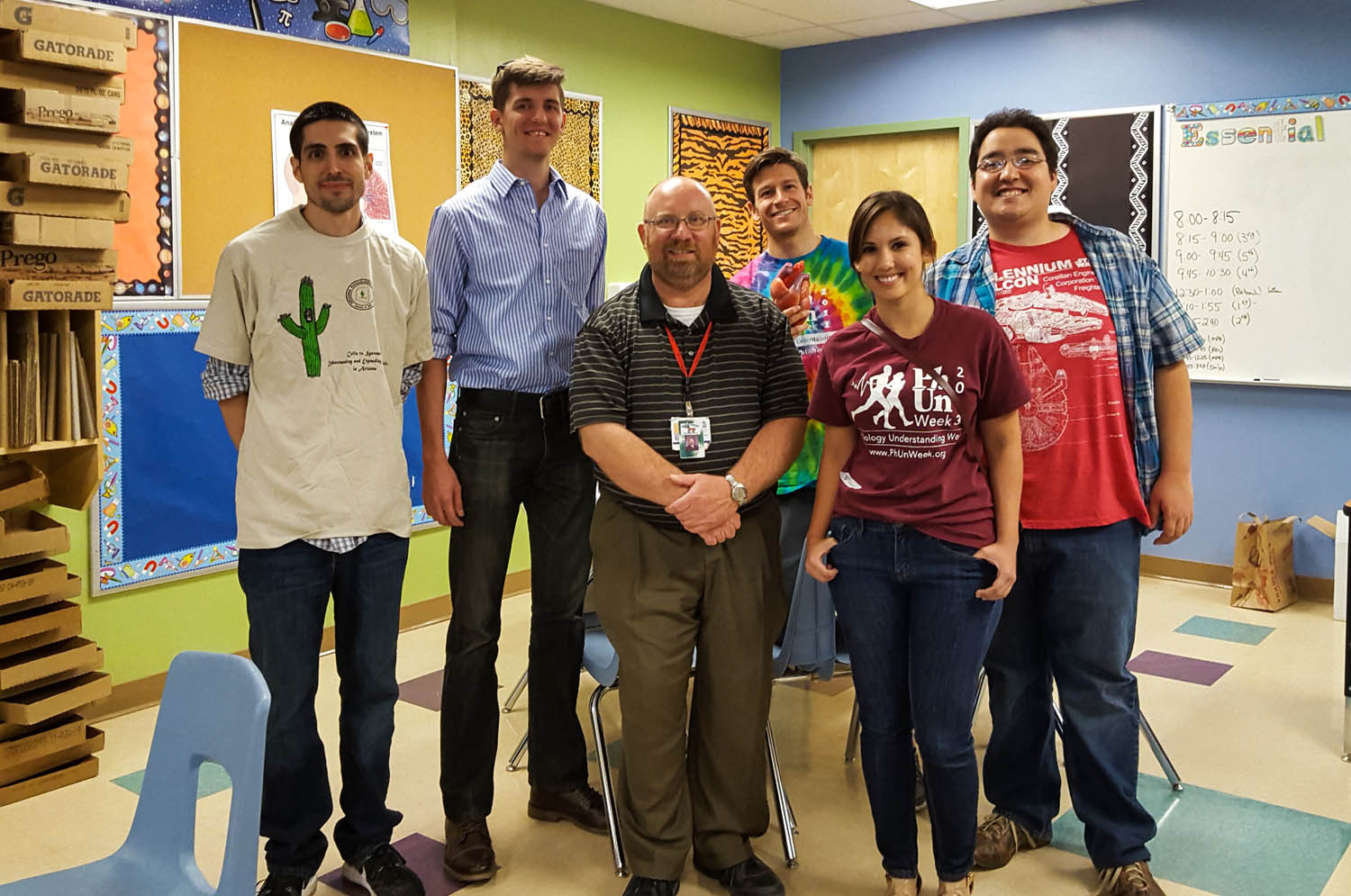 Some of the AZPS volunteers with Mr. Gordon (in the striped polo and lanyard).  That's me on the far right.