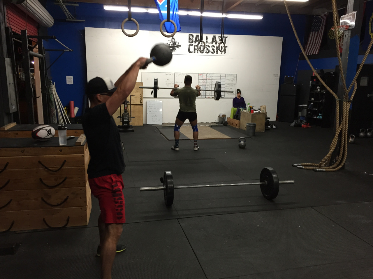 TUESDAY 29DEC15    Tuesday    1. group 800m run  2. free flow + snatch prep (snatch from pockets, thigh, knee)  3. 20' to find heavy single hang snatch (from knee)  3a. 2@80% of part 3  4. 3 rounds for time:  75 double under  21 KBS 53/35  21 burpee       Weightlifting    1. coaches warm up  2. muscle clean + clean from pockets (10')  3. work to heavy AK clean + Lo hang clean   4. deficit deadlift 5-5-5-5