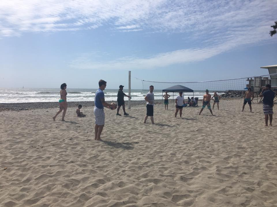 April 9th, 2017: Ballast Beach Day with some volley ball