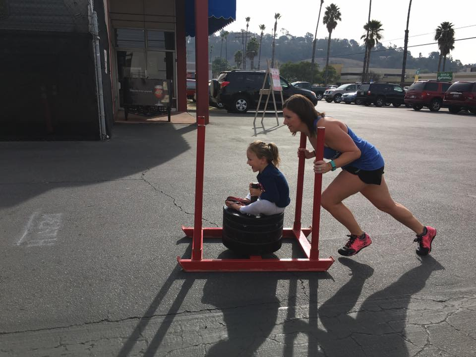 Rachel setting the example for her daughter Ella, that strong is beautiful.