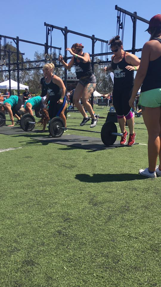 Christine, Laura, and Natasha during their first competition. They will be doing the Proving Ground Comp. September 16th, in Oceanside. Keep working hard ladies.