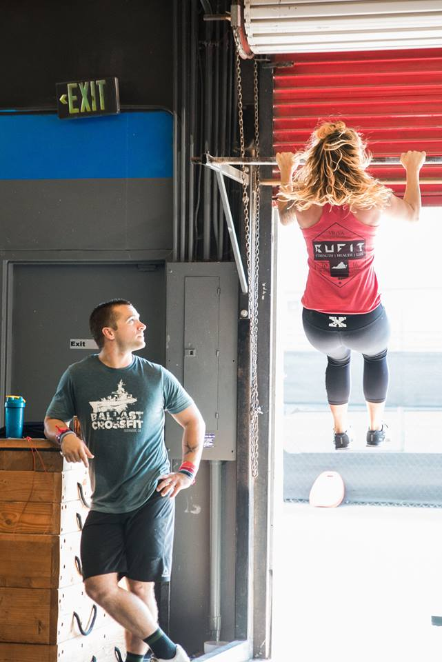 When bae is admiring them gains. Athletes Jordan and Amanda Urie.