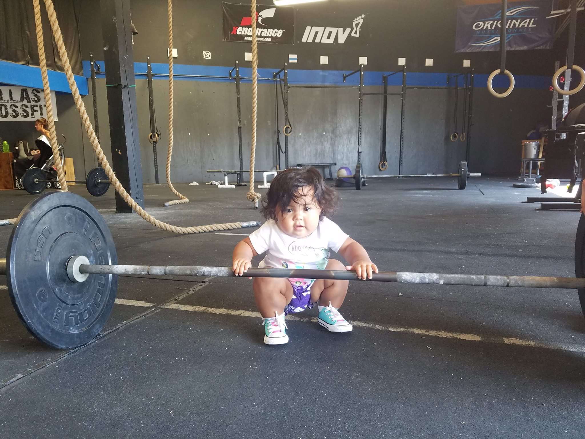 """I brought my grandniece Leilani to class and she passed me up as her squat is much lower than mine. This was her first class, too!"" ~Auntie Gwen"