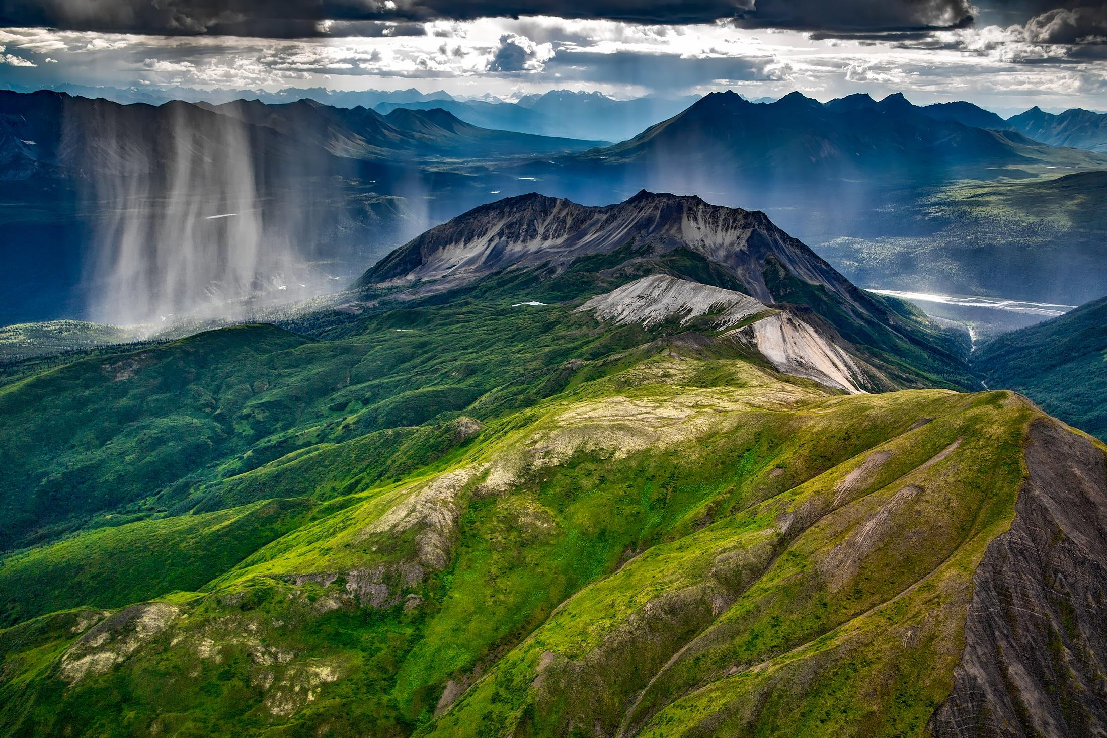 Wrangell Mountain in Light Rain