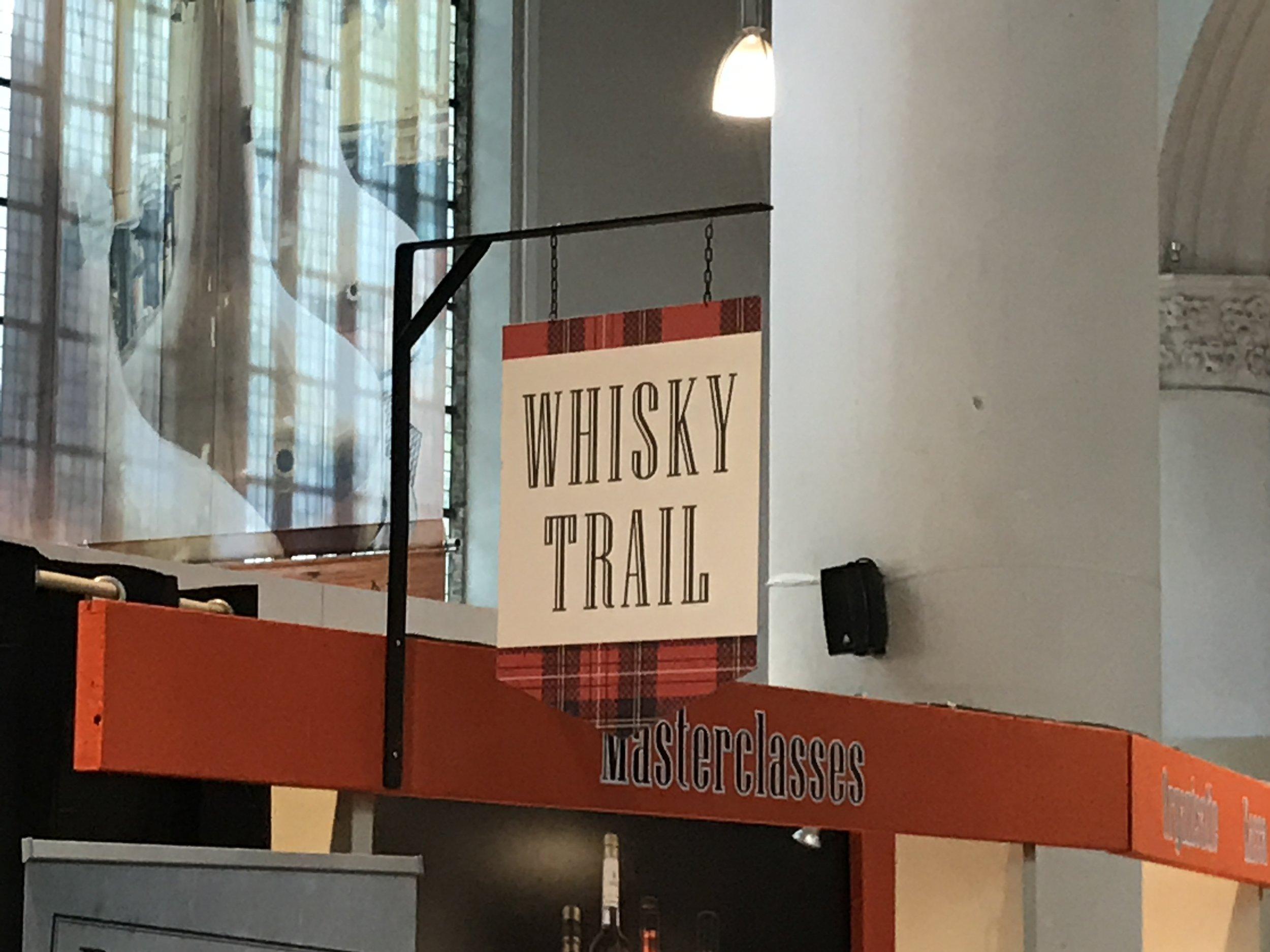 Het startpunt van de festival whisky trail