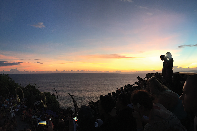 Sunrise over the Kecak Dance