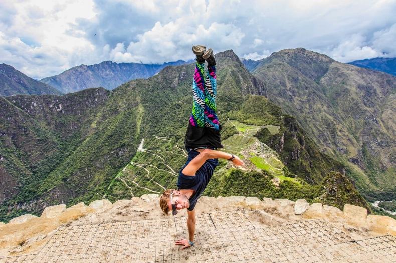 Handstand in Peru