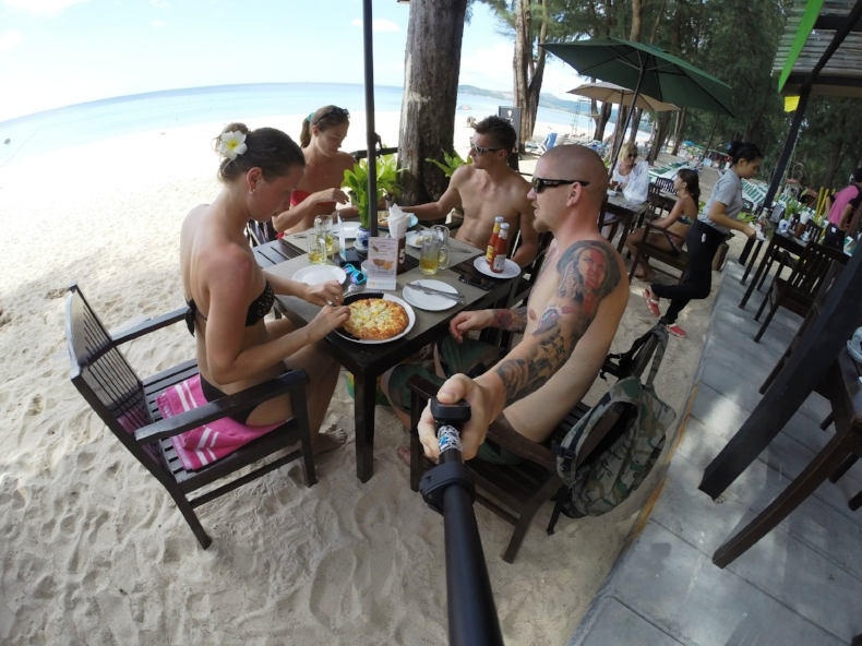 Breakfast at the Bang Tao Beach, Phuket. Photo credit: Anna Ivanova