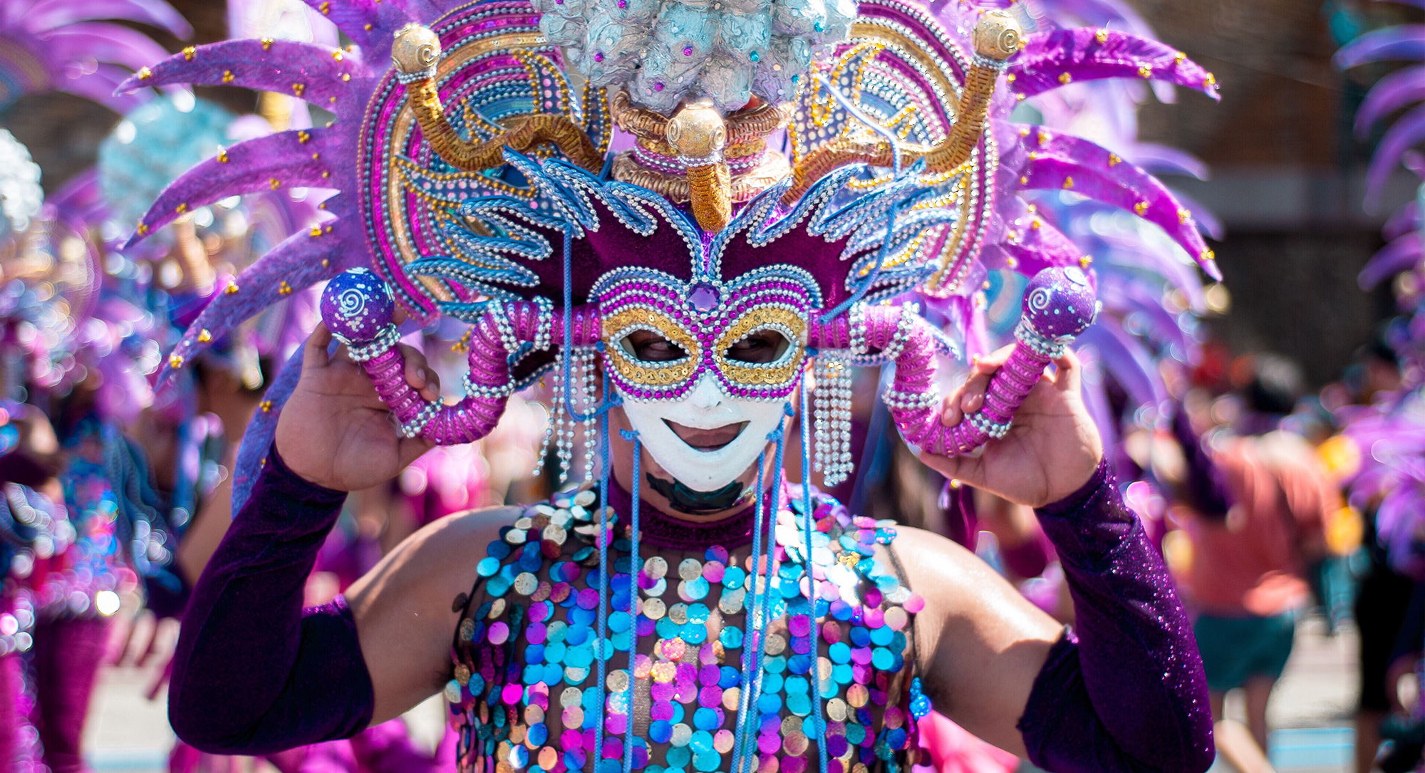 Masskara festival in Bacolod City, Philippines