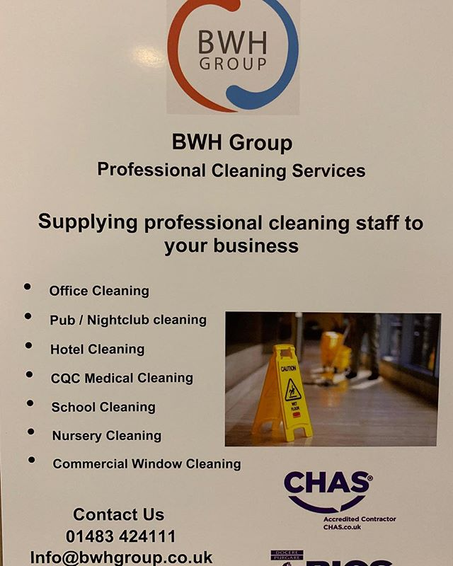 Professional Cleaning Services  We specialise in supplying fully vetted and fully trained uniformed cleaning professionals to businesses across Surrey, Hampshire and London  Call or email today to find out how we can support your business ☎️ 01483 424111 📧 Info@bwhgroup.co.uk 🌍 www.bwhgroup.co.uk #surrey #surreyhills #surreylife #surreybc #hampshire #london #londonist #cleaning #cleaninghacks #cleaningmotivation #cleaningtips #cleaningservice #professionals #cleaningservices #cleaningcompany #cleaningtime #interiorcleaning #windowcleaning #carpetcleaning #officecleaning