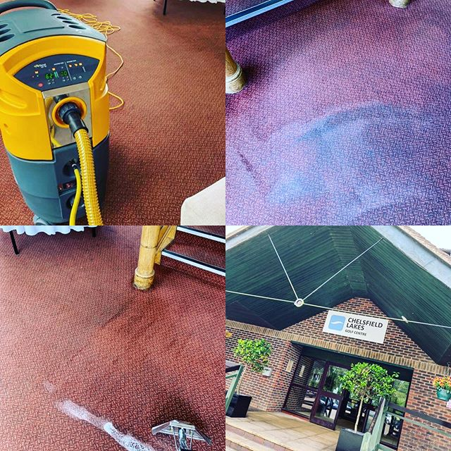 Commercial Carpet Cleaning at @chelsfieldlakesgolfcentre in Kent this morning - deep clean team are busy this week #carpetcleaning #cleaning #kent #surrey