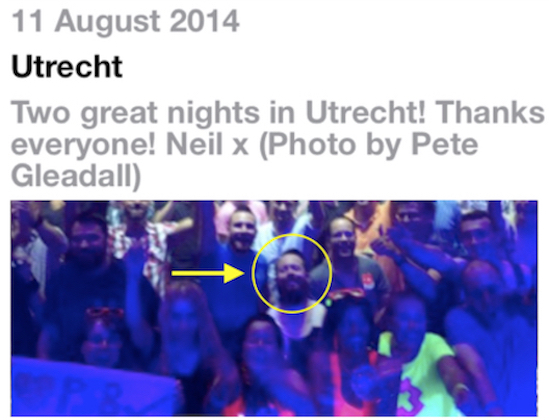 Pet Shop Boys posted Pete Gleadall's photo from Utrecht.