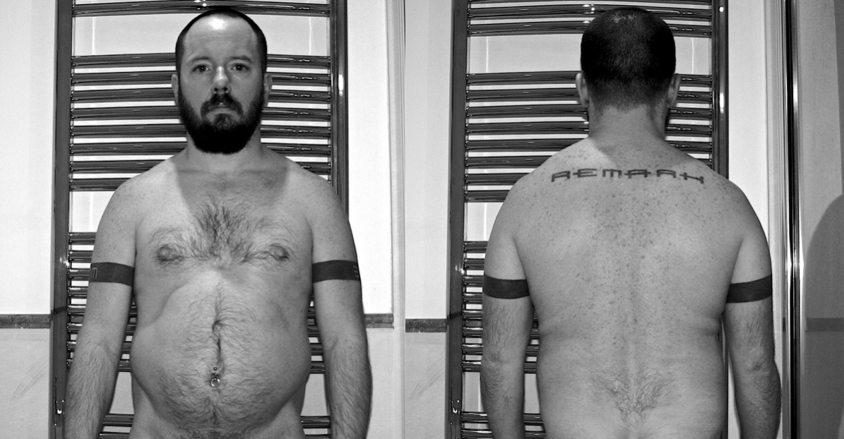 My body in January 2013, one month before turning 40: out of shape, unfit, portly.