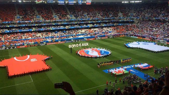 Photo:@ryanljones8. My brother Ryan sends a photo from inside the Nouveau Stade de Bordeaux before kick-off.