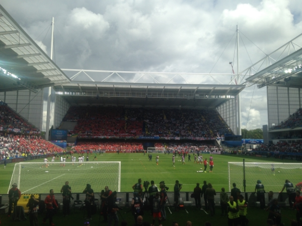 Inside the   Stade Bollaert-Delelis.