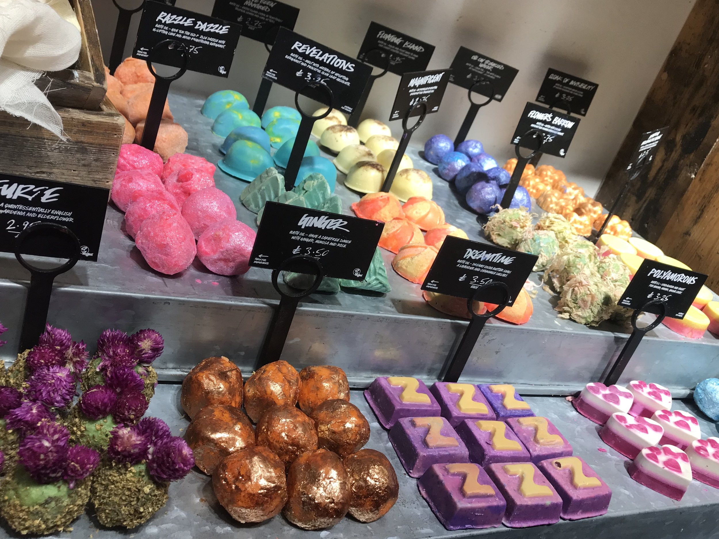 A selection of Lush products including those safe for pregnancy