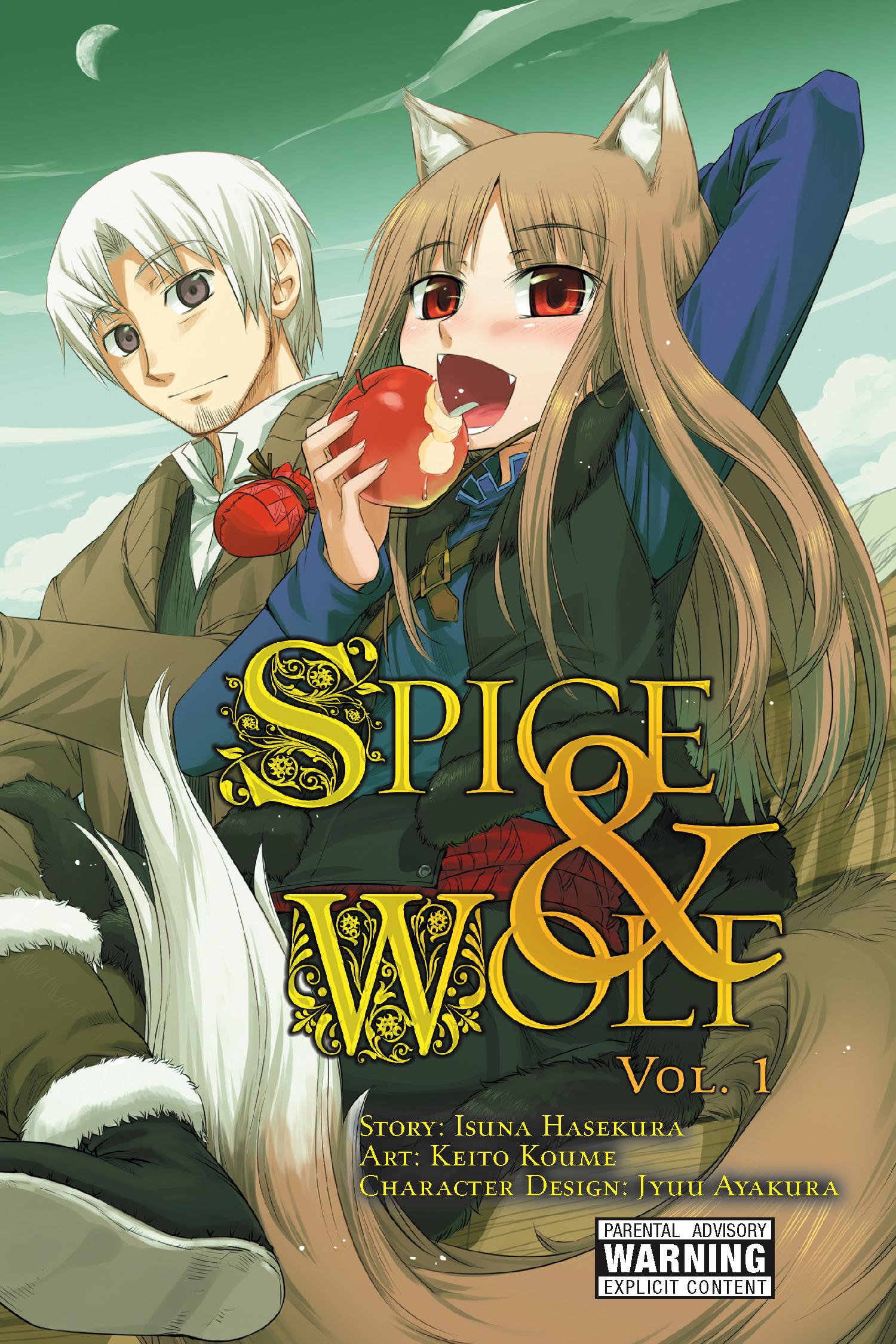 SPICE & WOLF by Keito Koume (art), Isuna Hasekura (story), and Jyuu Ayakura (design)