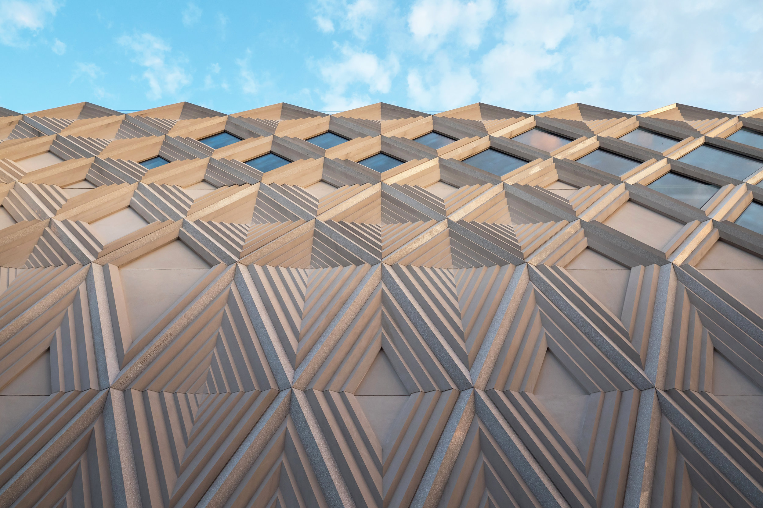 Victoria Gate John Lewis Diamond Latticed Facade.Photography: Copyright © Alex Upton