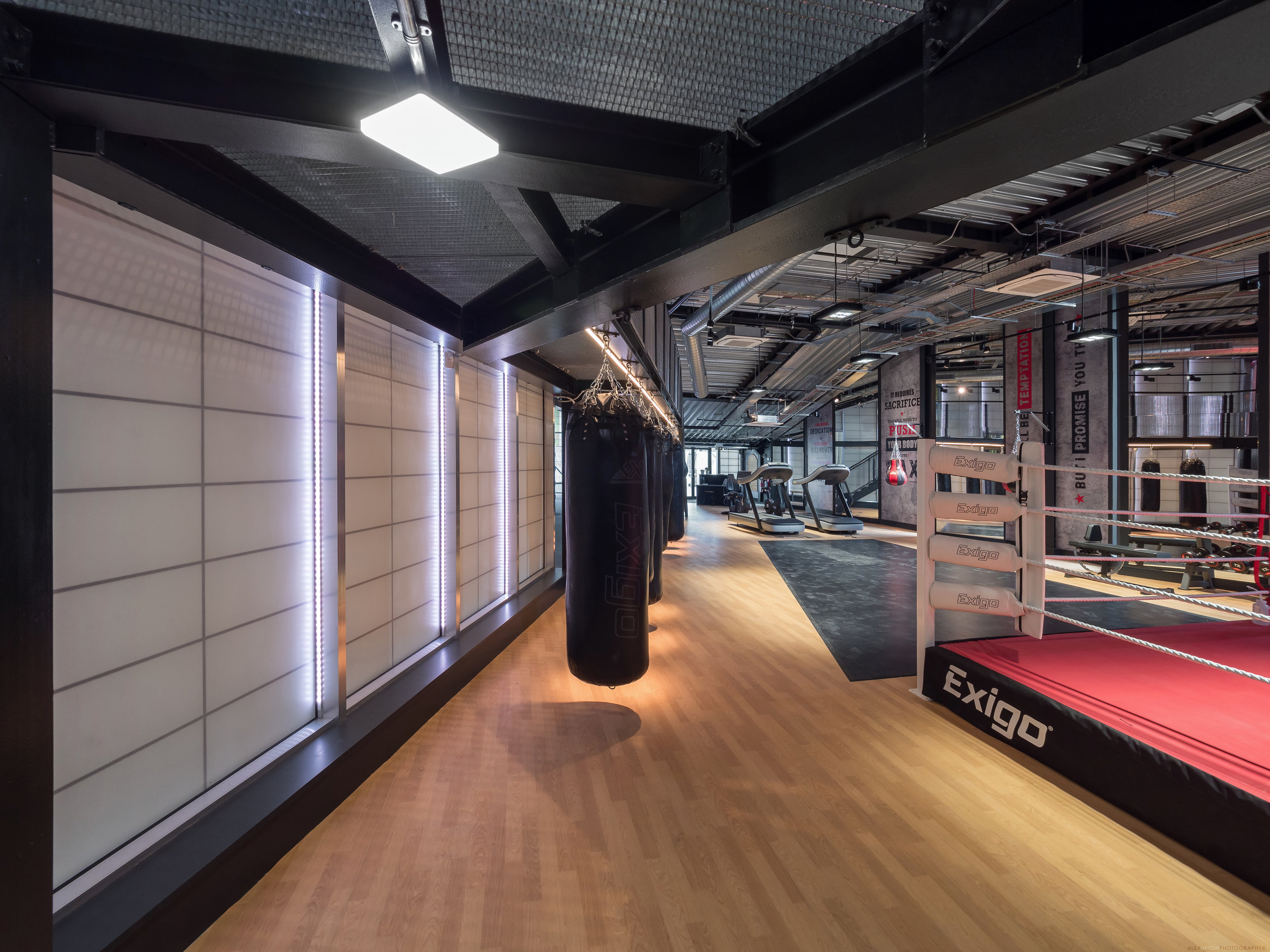 Training facilities inside Dale Youth Boxing Club