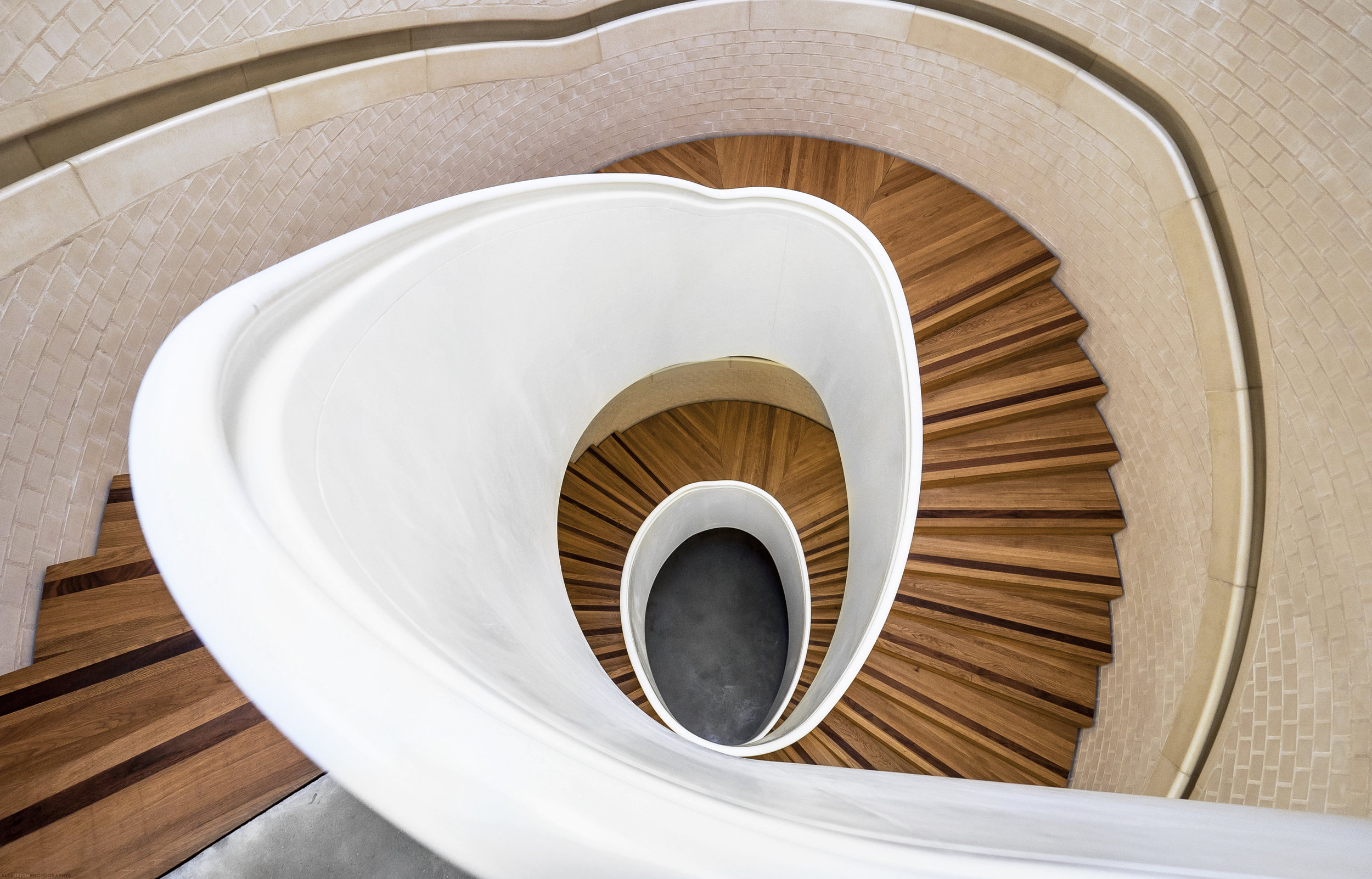 Photography of Newport Street Galleries Spiral Staircase.