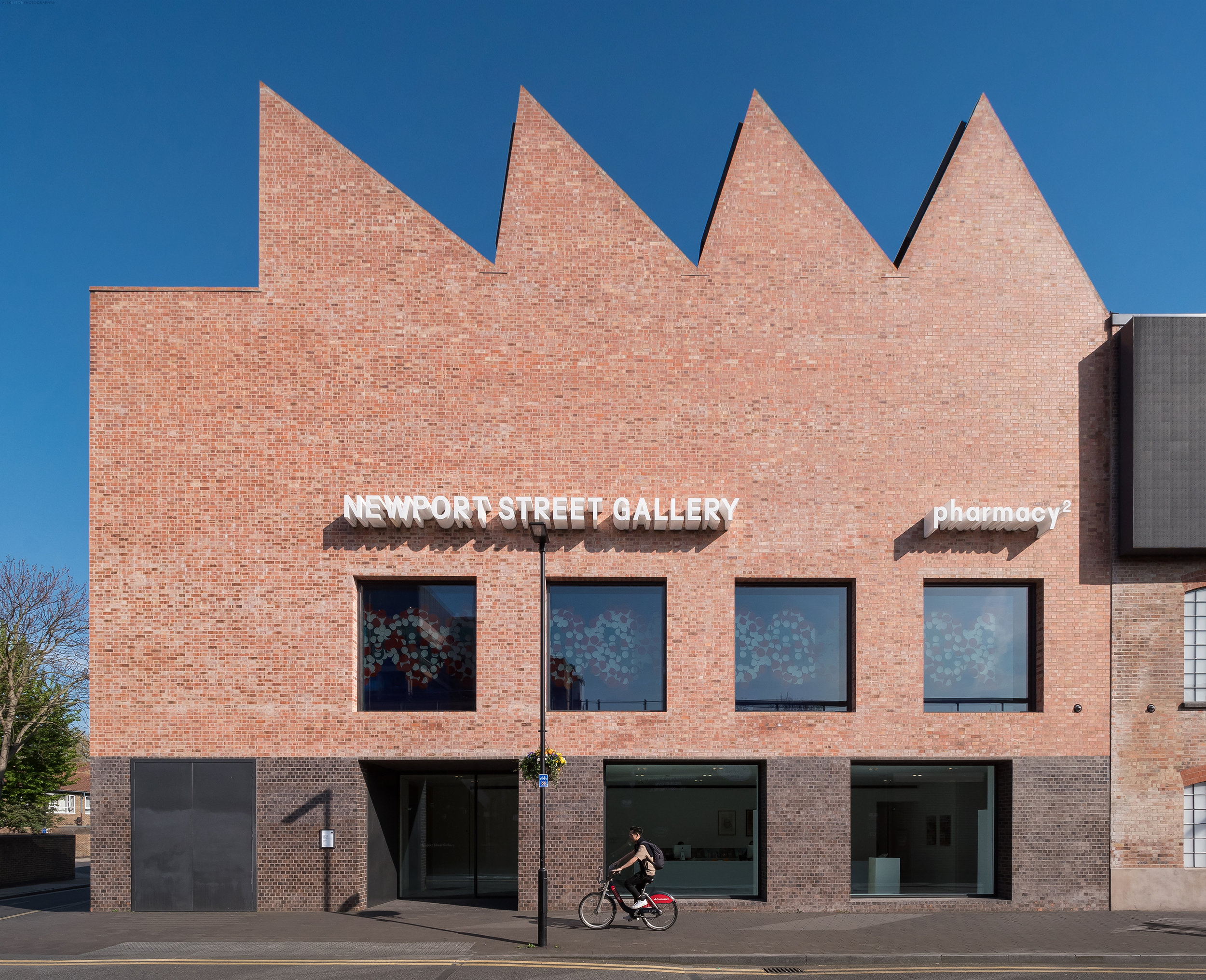 Architectural Photography of Newport Street Gallery's Main Entrance.