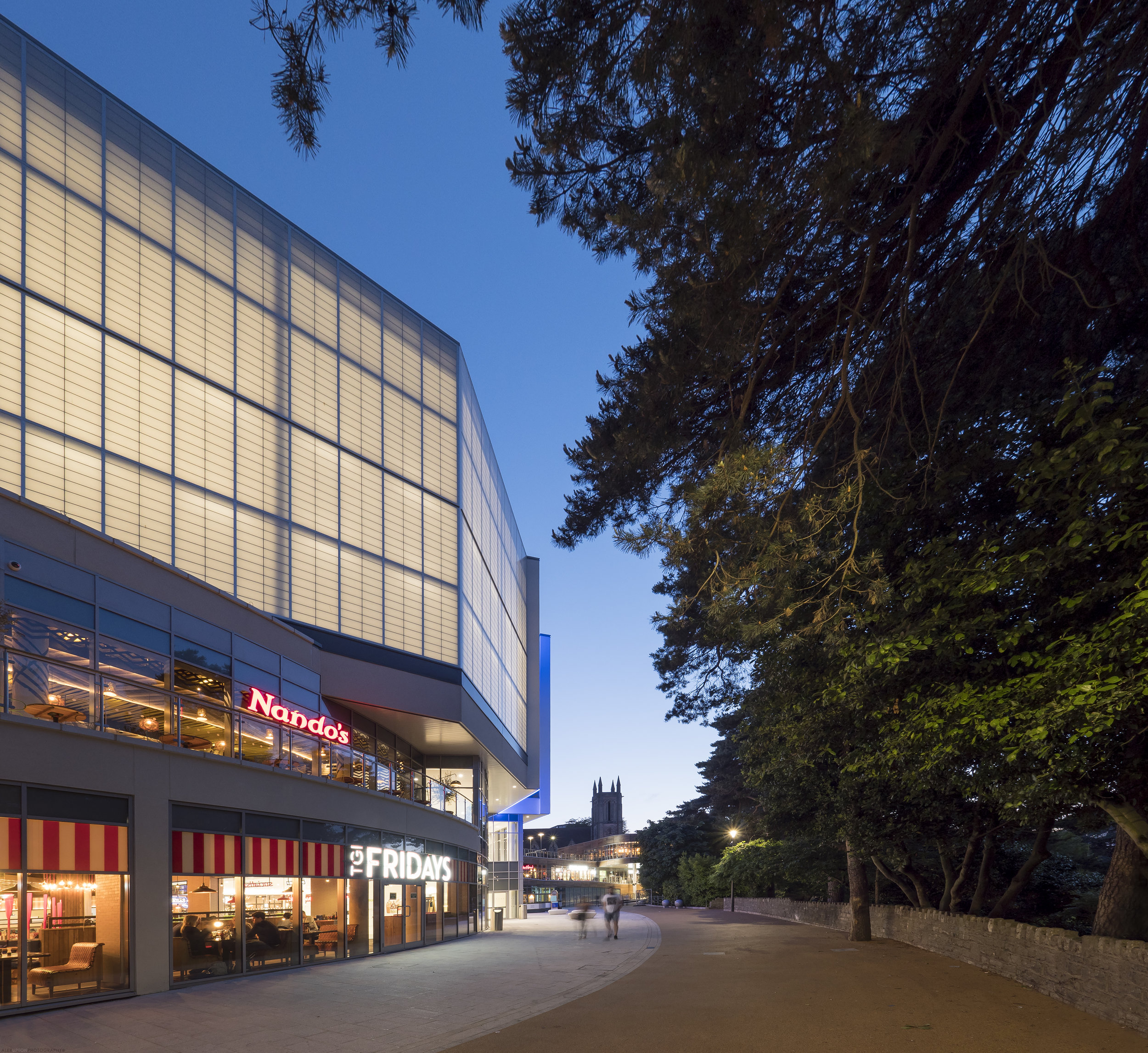 BH2 Bournemouth utilises a building material called Kalwall which allows light to permeate through the buildings facade.