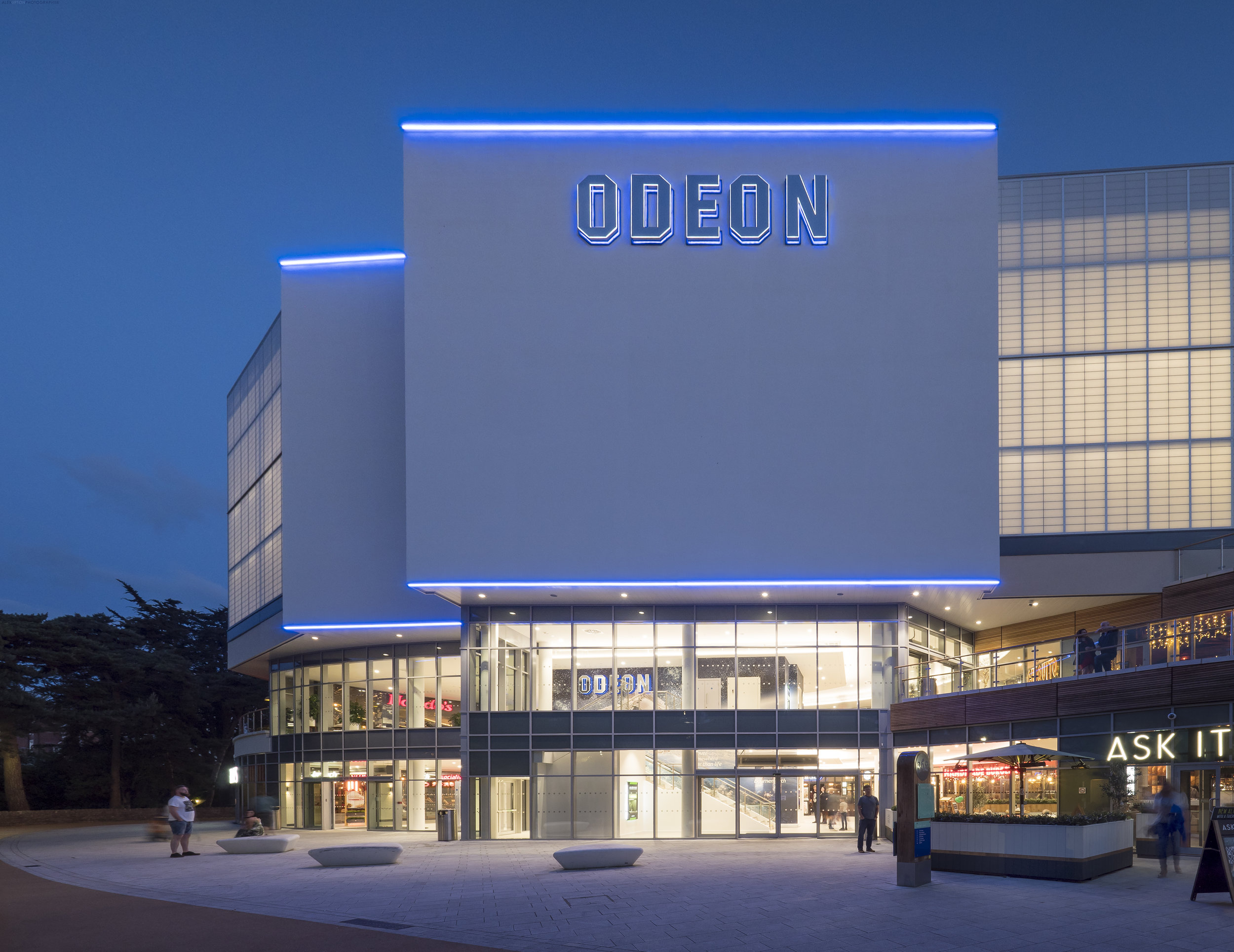 Architectural Photography of BH2 Leisure centres Odeon Cinema.